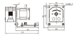 bản vẽ bơm nhu động OEM T100-S15  S25  S35  S45  S55