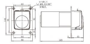 bản vẽ động cơ DC  AC với dòng TH15